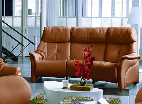 Himolla Chester Curved Manual Recline Sofa with Acti