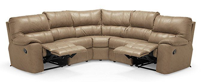 Curved Recliner Sofas in 2020 | Leather sectional sofas, Leather .