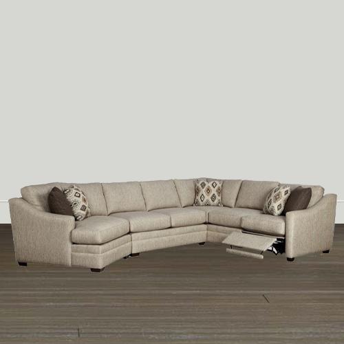 Cozy Life F9 Custom Kaydence Quick Ship Reclining Sectional Sofa .