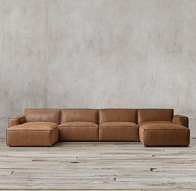 Como Modular Leather Customizable Sectional | Modern leather .