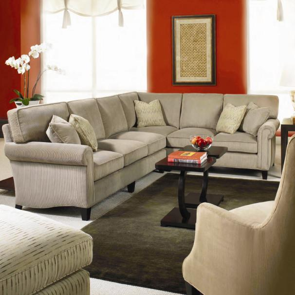 Taylor King Cozy Creations Customizable Upholstered Sectional Sofa .