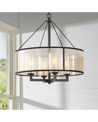 New Deals on Dailey 4-Light Unique/Statement Drum Chandelier .