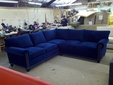 Carrollton Sectional | Blue couch living room, Blue sectional .