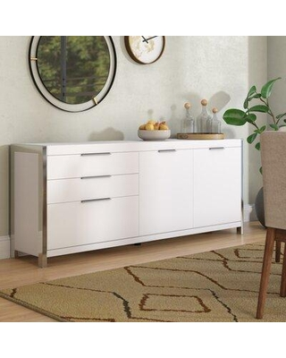 "Spectacular Savings on Wade Logan Damian 74.8"" Wide 3 Drawer Sideboa"