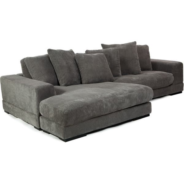 Shop Aurelle Home Reversible Contemporary Sectional Sofa .