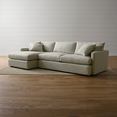 Lounge II Deep-Seated Sectional Sofa + Reviews | Crate and Barr