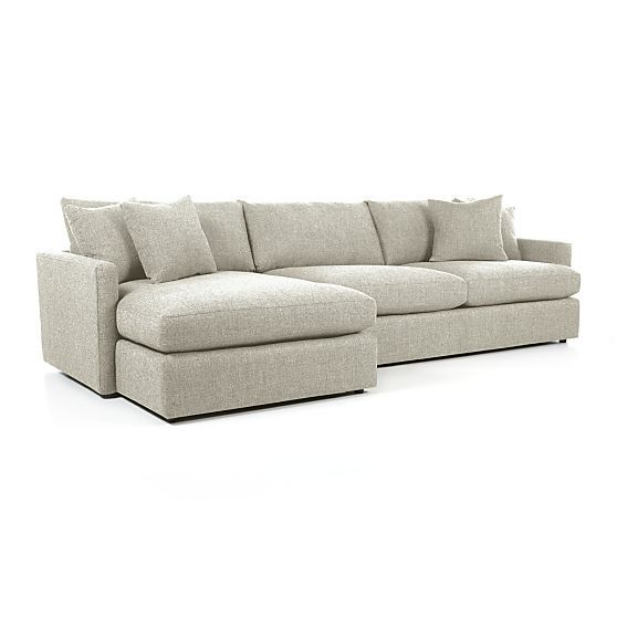 Lounge II Deep-Seated Sectional Sofa + Reviews | Crate and Barrel .