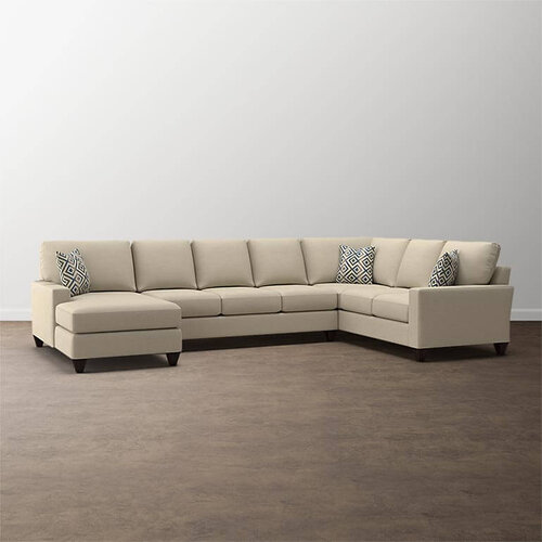 Premier Collection - Custom Upholstery Deep U-Shaped Sectional in .