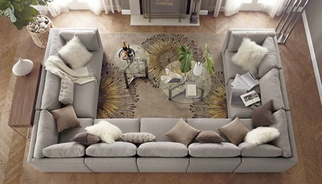 I would ut this sofa in the room in a deep brown color. Add yellow .