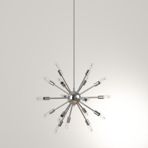 Decor Living Sputnik 18-Light Polished Nickel Chandelier-751C-32 .