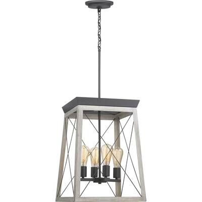 Winstead 1 - Light Lantern Geometric Pendant | Square chandelier .
