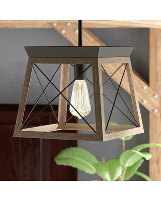 Delon 1 Light Lantern Geometric Pendants