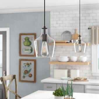 Clematite 1 - Light Single Jar Pendant in 2020 | Farmhouse pendant .