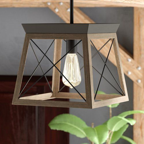 Delon 1 - Light Lantern Geometric Chandelier | Farmhouse pendant .