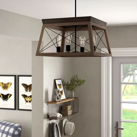 Delon 4 - Light Lantern Rectangle Chandelier | Rectangle .