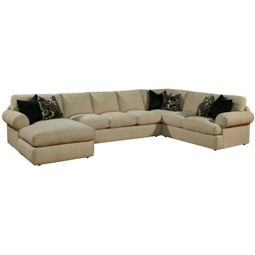 Robert Michael Fifth Ave Chaise and Sofa Sectional - Des Moines .