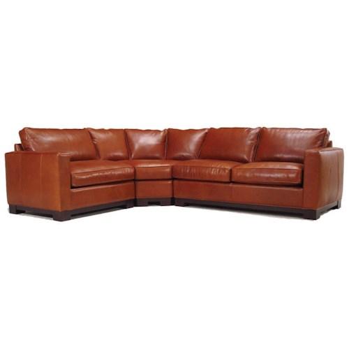 McCreary Modern 0555 Contemporary Sectional Sofa - Des Moines .