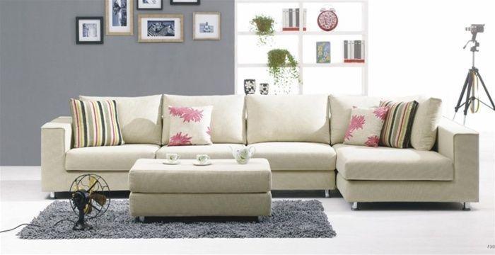 Exquisite Designer Micro Suede Fabric Sectional | Contemporary .