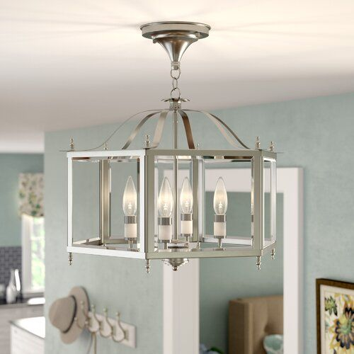 Wigginton 4 - Light Lantern Geometric Pendant in 2020 | Lantern .