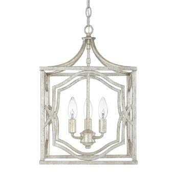 Destrey 3 Light Lantern Square Rectangle Pendants