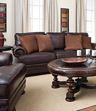 dillards bernhardt seth leather sofa 1600 sale | Leather living .
