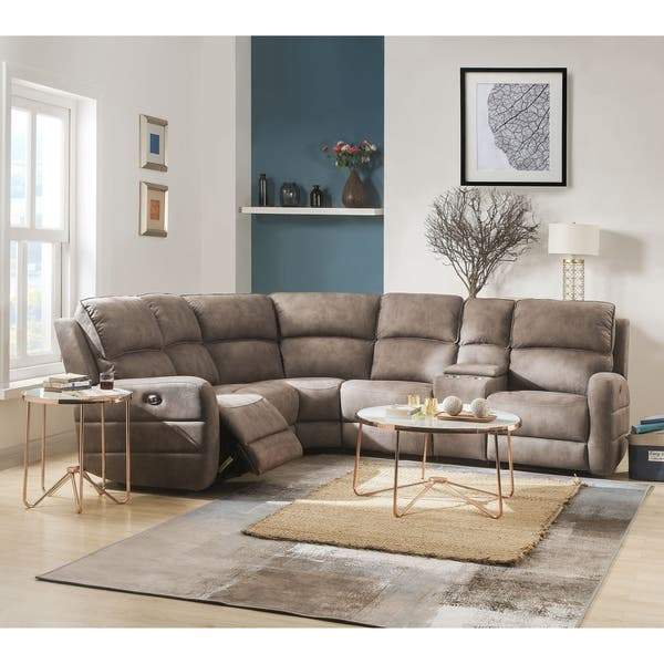 Shop ACME Olwen Power Motion Sectional Sofa with USB Power Dock in .
