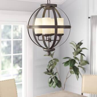 Aimee 4 - Light Shaded Globe Chandelier & Reviews | Joss & Ma