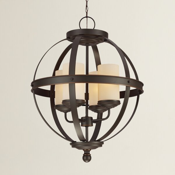 Birch Lane™ Donna 4 - Light Shaded Globe Chandelier & Reviews .