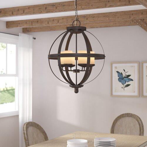Donna 6 Light Globe Chandeliers