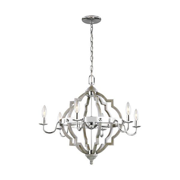 Renee 6-Light Candle Style Chandelier | Candle style chandelier .