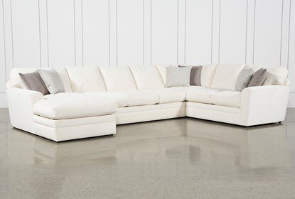 Prestige Down 3 Piece Sectional With Left Arm Facing Chaise .