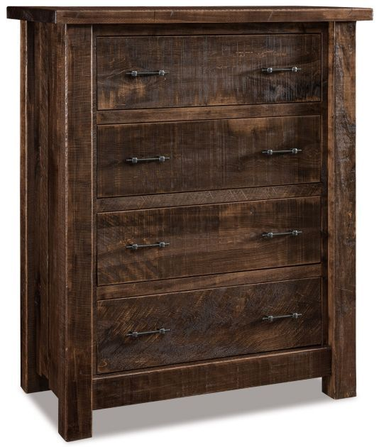 Drummond 4-Drawer Chest | Amish furniture bedroom, Rustic bedroom .