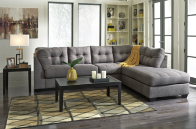 Jennifer 2 Piece Sectional - Charcoal | Charcoal sectional .