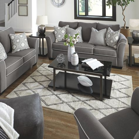 Domani Sofa - Charcoal in 2020 | Living room sofa, Living room .