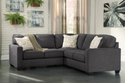 Dufresne - Sharon Charcoal 3 Piece Sectional | Charcoal sectional .