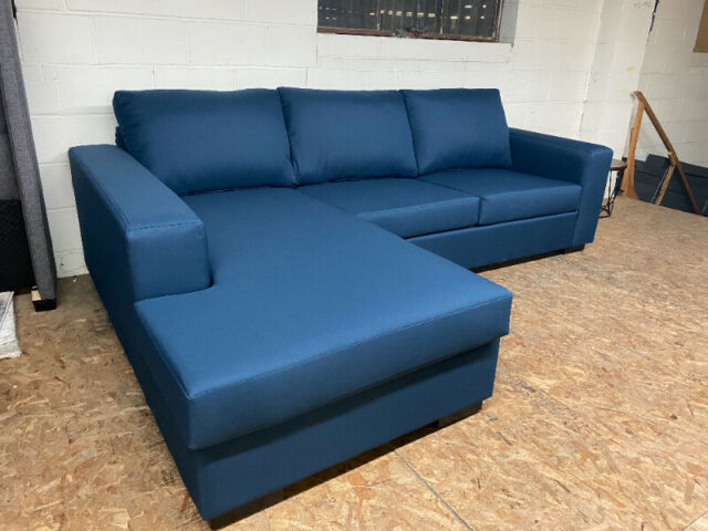 BRAND NEW BLUE FABRIC SECTIONAL | Couches & Futons | Oshawa .