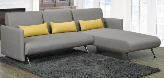 IF-9370 - Grey Fabric Sectional So