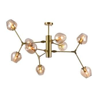 Eastbourne 6 - Light Unique / Statement Geometric Chandelier .