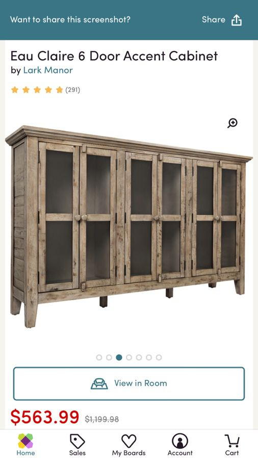 New Eau Claire 6 Door Accent Cabinet for Sale in Lake Forest, CA .