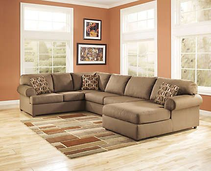 Cowen Mocha 3 Piece Sectional - Art Van Furniture | Ashley .