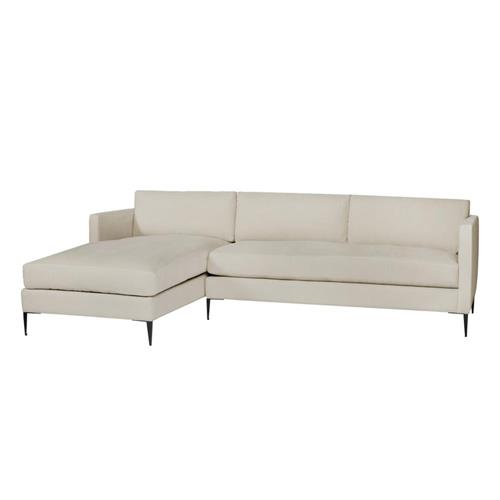 Cisco Brothers Benedict Modern Classic Cream Linen 2 Piece .