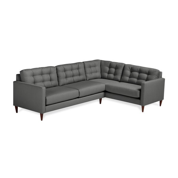 Shop Harvard Mid-century Eco-friendly Fabric Right Facing Tufted .