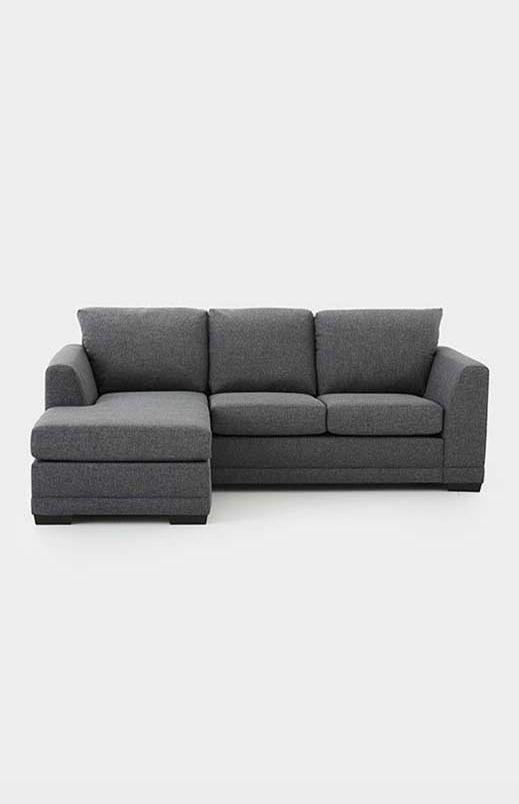 Divan sectionnel reversible en tissu gris - P00302896 | Sofa, Grey .