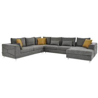 Grigio Gray Sectional Sofa w/Right Chaise | El Dorado Furnitu