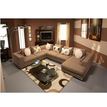 Hanna Beige Sofa w/Right Chaise | Sectional sofas living room .
