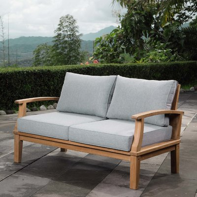 Displaying Gallery of Mansfield Teak Loveseats With Cushion (View .