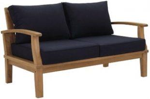 Amazing Deal on Elaina Teak Loveseat with Cushions Beachcrest Home .