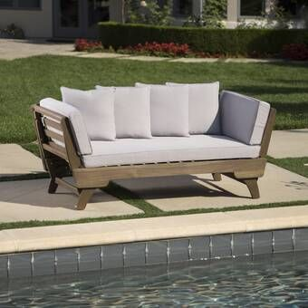 Bodine Patio Daybed with Cushions | Outdoor daybed, Patio daybed .