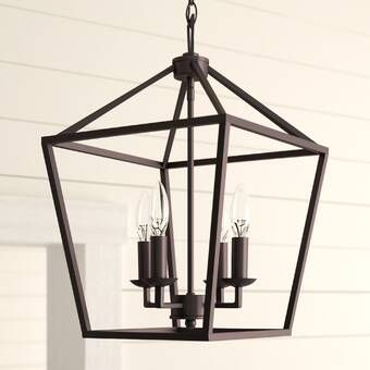 Ellenton 4 - Light Shaded Square / Rectangle Chandelier with .