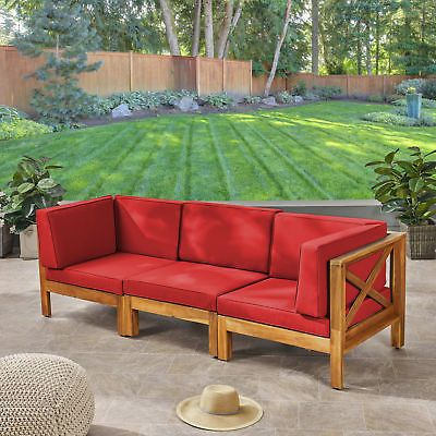 Post-1950 156315: Highland Dunes Anneke Patio Sofa With Cushions .